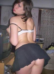 Faldita sexy a cuadros - 3 part 5