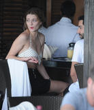 Миша Бартон, фото 10508. Mischa Barton - wearing a bikini top at a beach in Miami 01/02/12, foto 10508