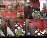 Scaled waaaaaay crossed legs stockings upskirt